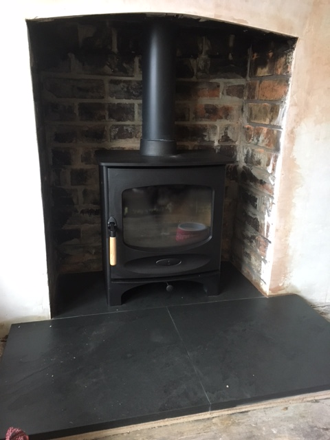 Embers bristol stove and hearth installation