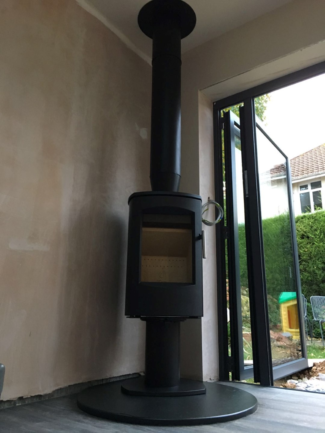 Embers Bristol stove installation in an extension