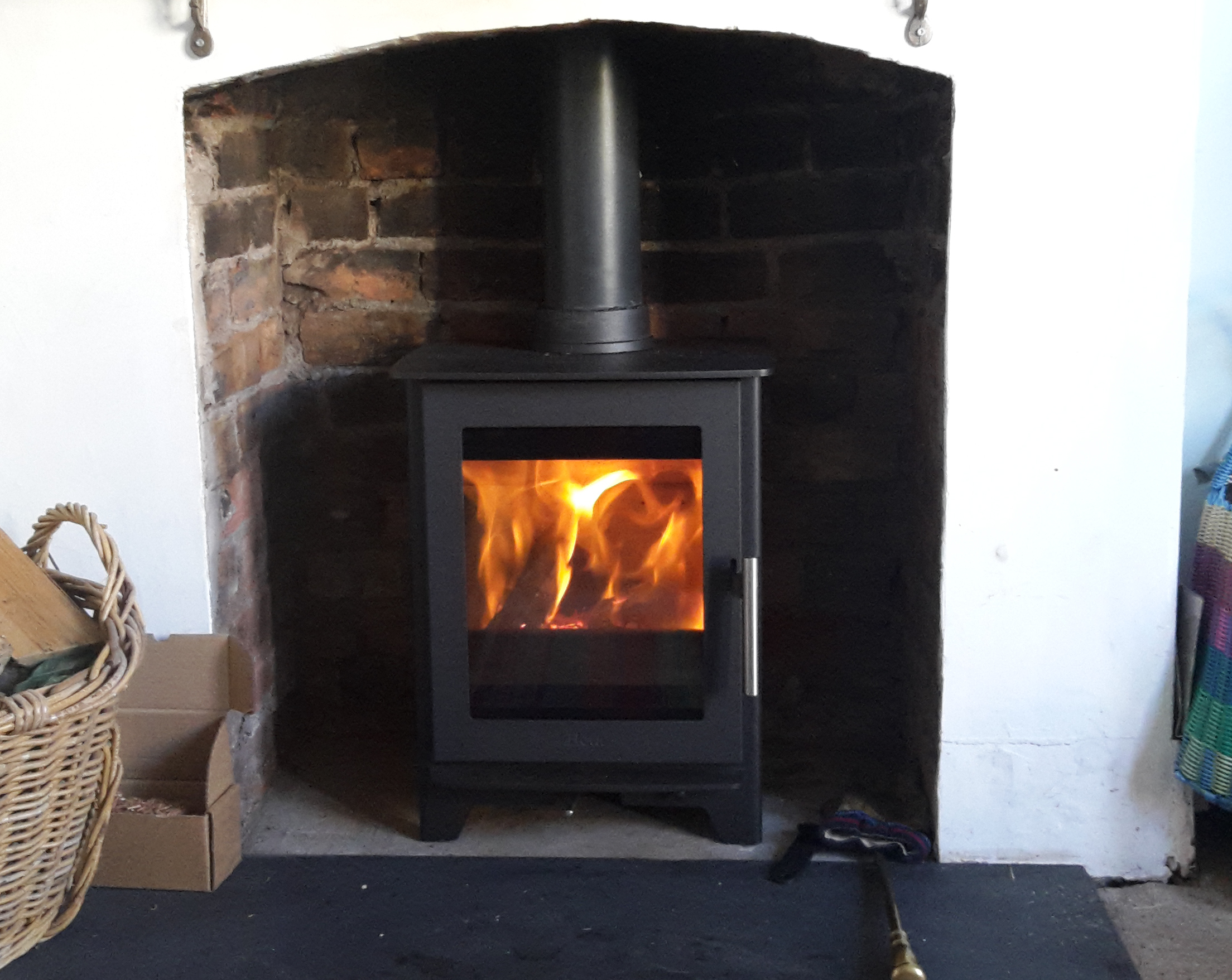Straight forward stove installation