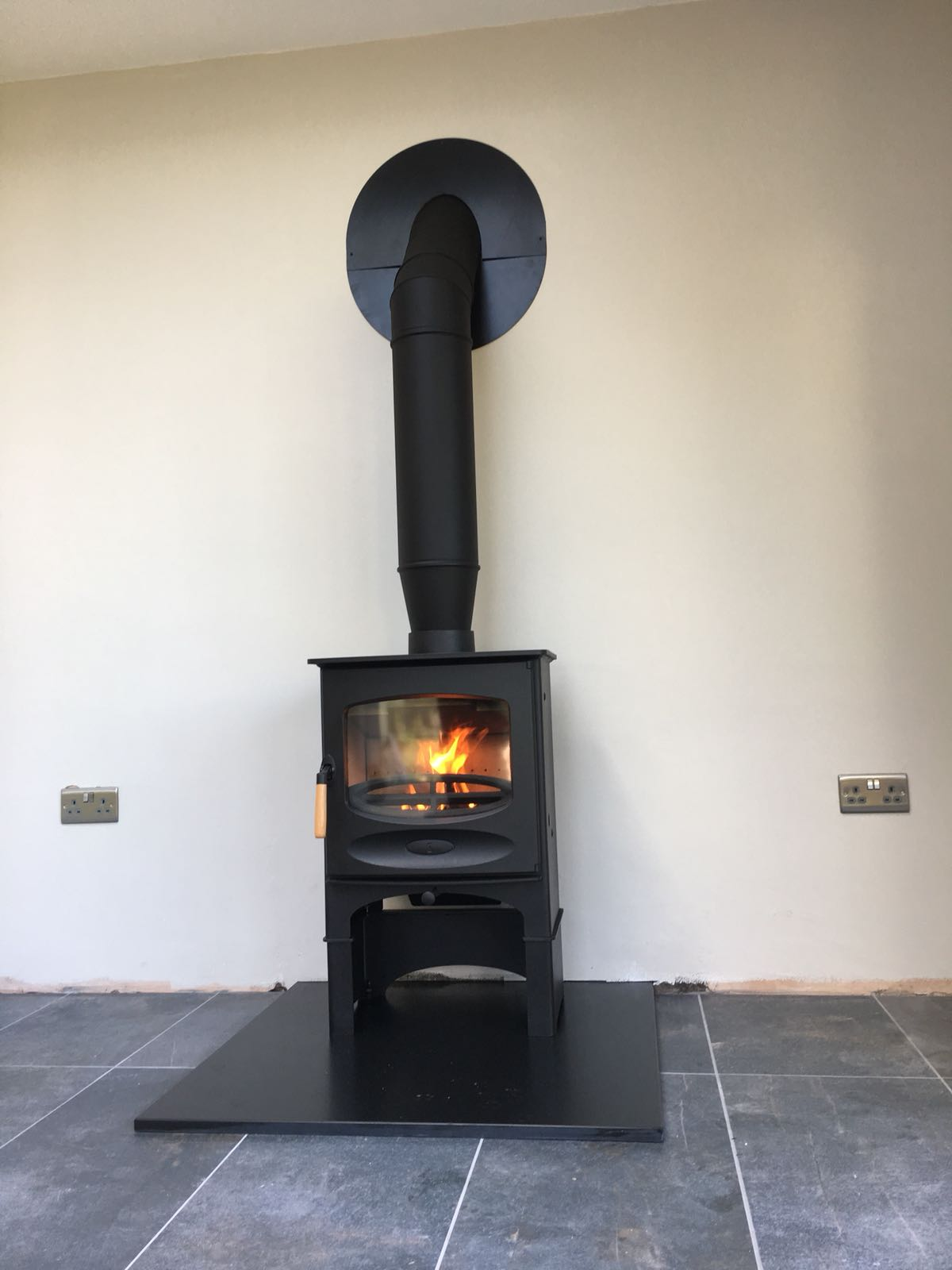 Charnwood C Five BLU twin wall installation by Embers Bristol