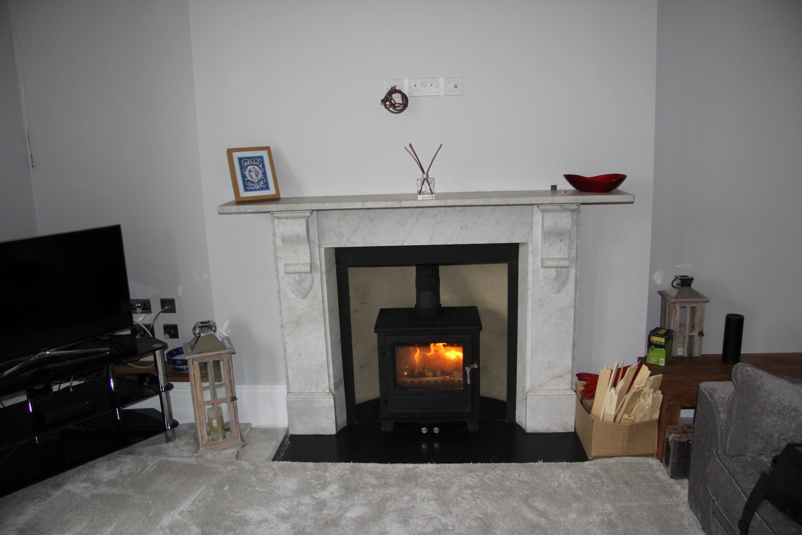 Clock Blithfield 5 woodburning stove installation in Bristol.