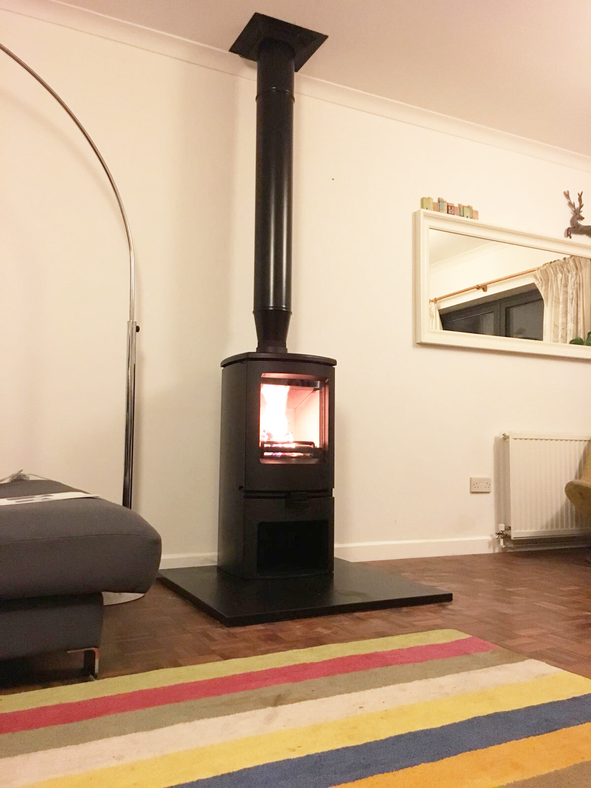 Embers Bristol Stove Installation with no Chimney