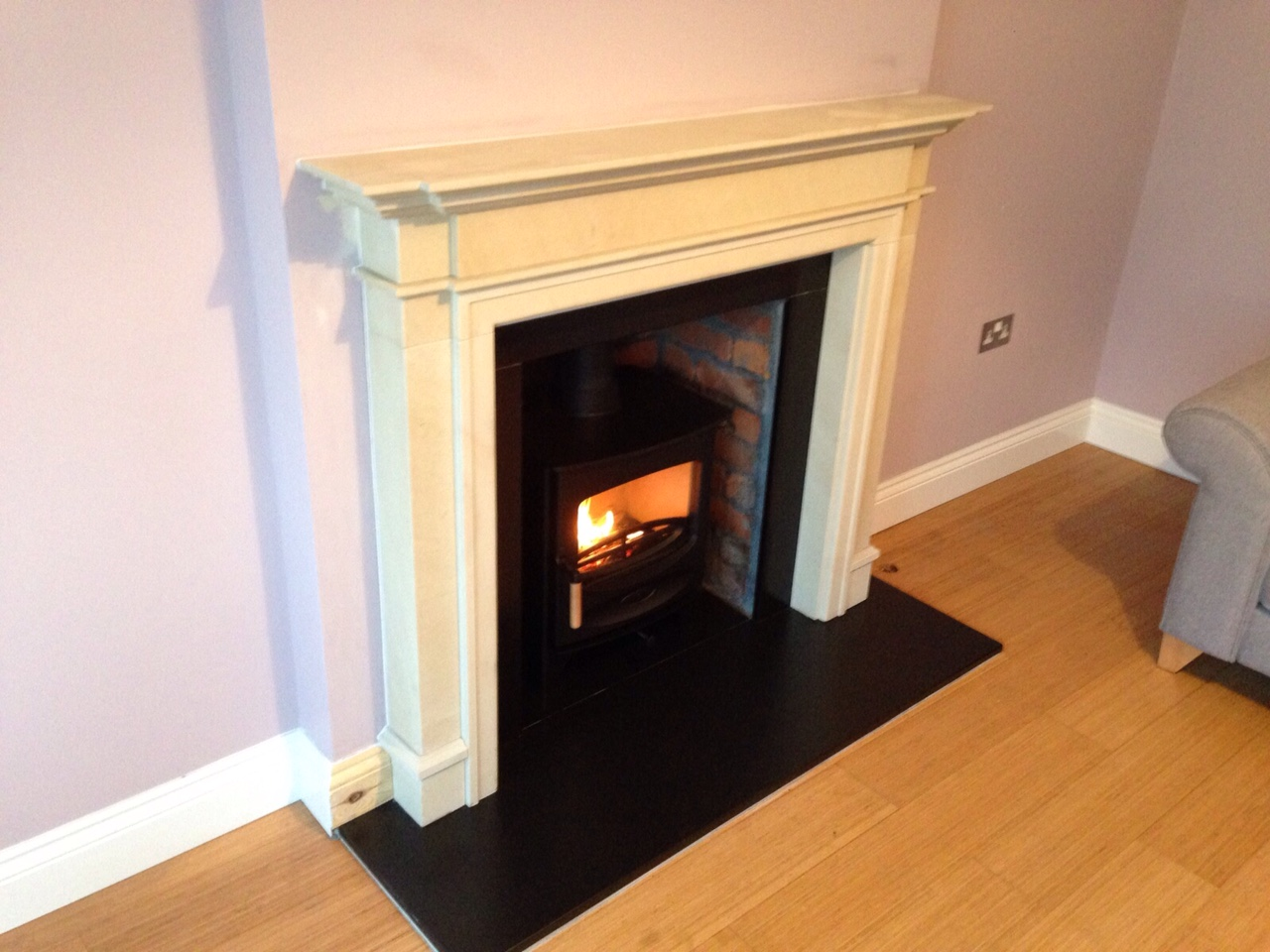 Embers Bristol stove installation and mantelpiece