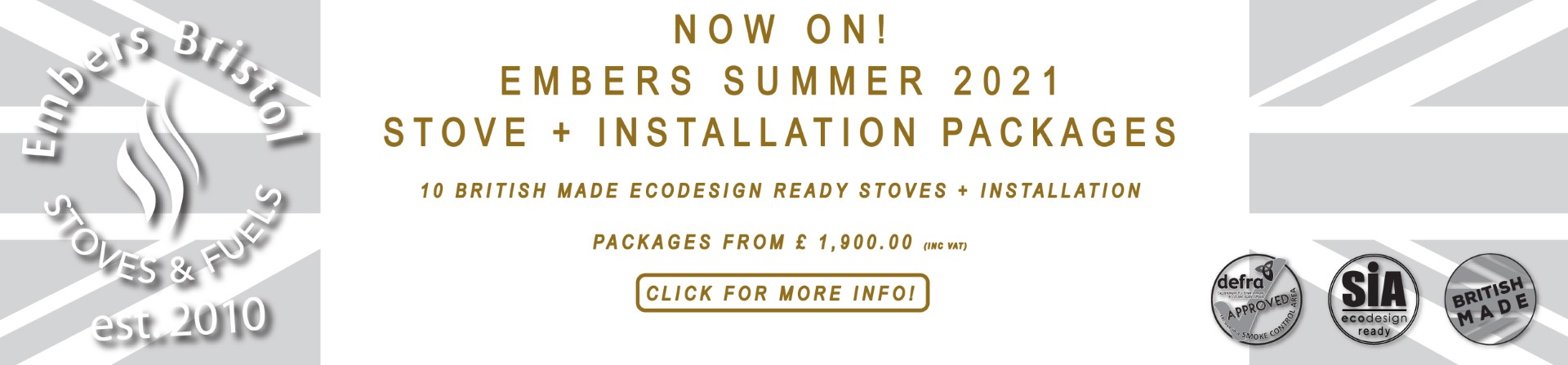 Embers Bristol Summer Offer 2021 Stove Installation Offers