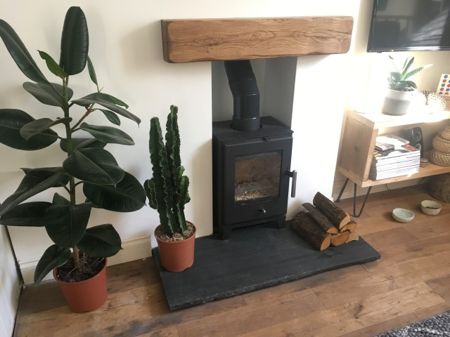 Embers Bristol Wood Burning Stove Installation Solid Oak Beams